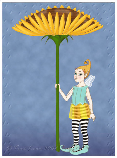 Lemondrop_and_umbrella_in_rain