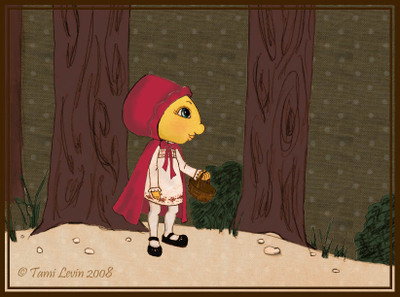 Little_red_riding_hood_in_woods